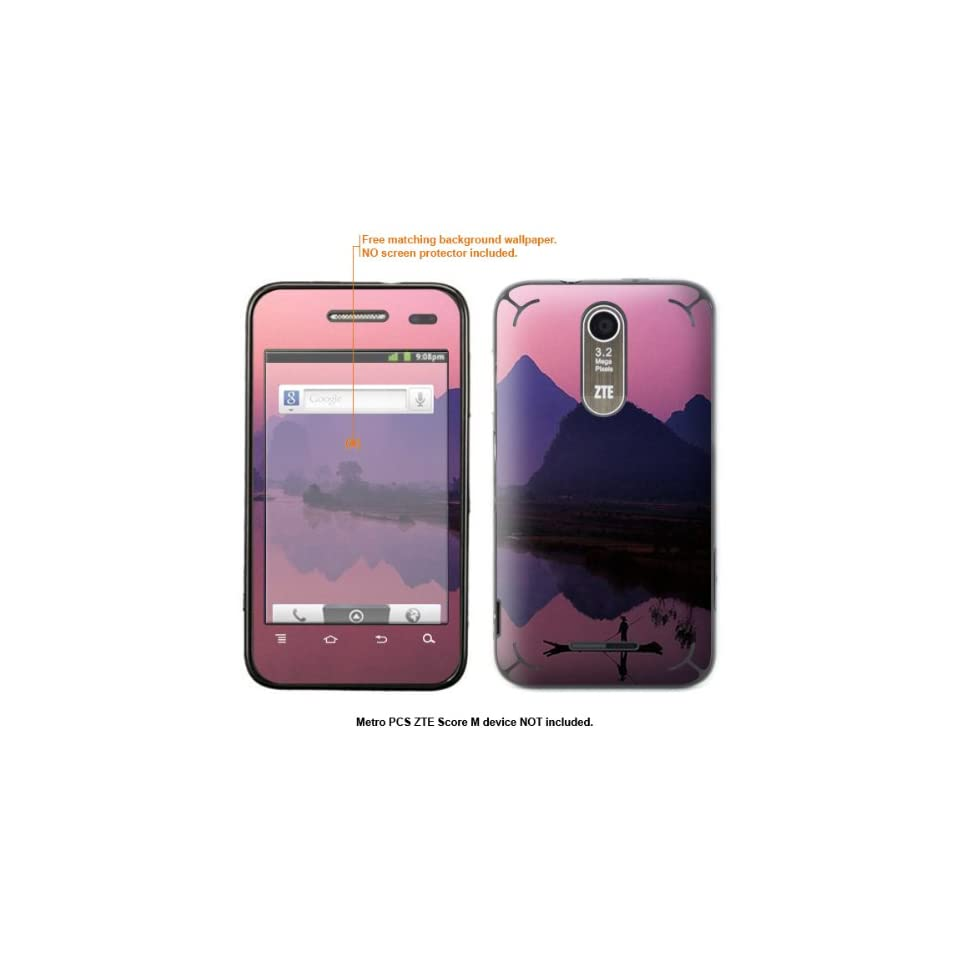 Protective Decal Skin Sticker for Metro PCS ZTE Score M case cover ZTEscoreM 368 Cell Phones & Accessories