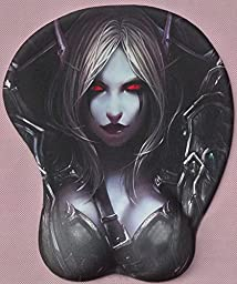 Game Mouse pad Sylvanas Windrunner Computer 3D Mouse Pad Big Bust (A01)