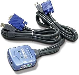 TRENDware 2PORT KVM SWITCH USB DESK ( TK-206I )