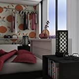 DecorNation Japanese Circle Pattern Lamp Shade - Black Bedroom Lamp