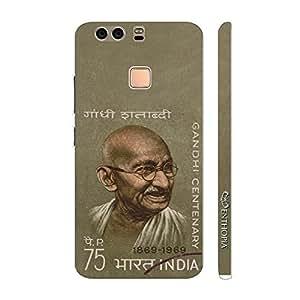 Enthopia Designer Hardshell Case Gandhiji Back Cover for Huawei P9 Plus