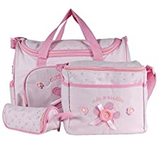 Lot 4 PCS sac à langer rose bébé maman promenade voyage