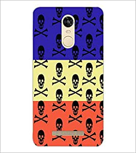 PrintDhaba Skull D-3228 Back Case Cover for XIAOMI REDMI NOTE 3 PRO (Multi-Coloured)