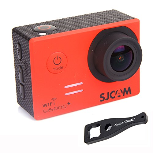 """Original SJCAM SJ5000 Plus WIFI Ambarella A7LS75 16MP 1.5"""" LCD 1080P 60FPS 170 Degree Wide Angle Sport Action Camera Waterproof Cam DV Camcorder Outdoor for Bicycle Motorcycle Diving Swimming with a Free Mini SmartTmall Wrench (Red)"""