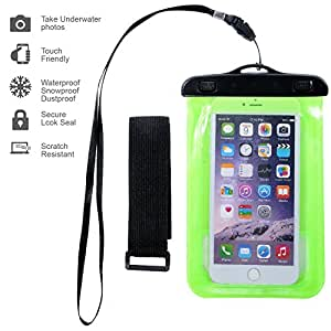 Waterproof Case,ebow Armband Sweatproof Case for Iphone 6s/6/5/4,samsung and Other Smartphone,protective Life Pouch Cover with Touch Responsive Clear Screen Protector (Three)
