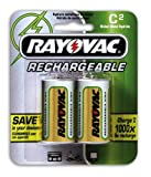 Rayovac Rechargeable NiMH Batteries (NM714-2), C Size, 2-Count Packages (Pack of 3)