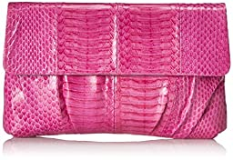Inge Christopher Erin Snaksin Envelope Clutch, Orchid, One Size