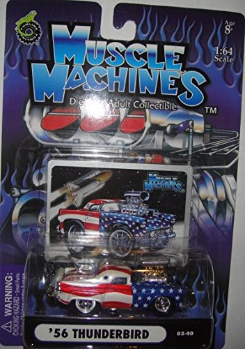 MUSCLE MACHINES 1:64 SCALE STARS AND STRIPES SERIES '56 THUNDERBIRD DIE-CAST - 1