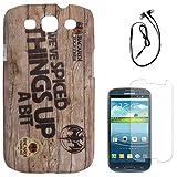 DMG Night Glow Hard Back Cover Case For Samsung Galaxy S3 Neo GT-I9300I (Bacardi) + Black Earphones + Matte Screen...
