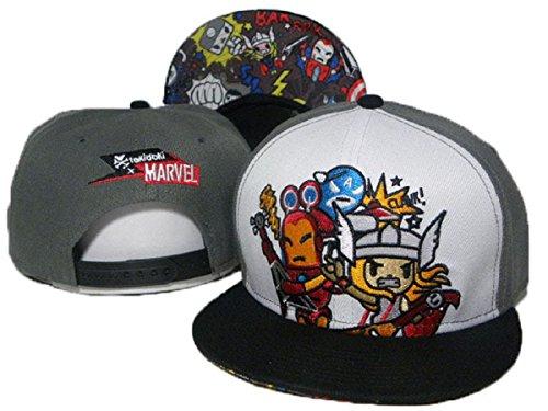 Tokidoki cappelli di baseball cappello registrabile (grigio, bordo nero)