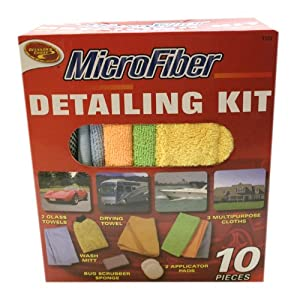 Detailer's Choice 1122 Microfiber Detail Kit, (Pack of 10) from Detailer's Choice