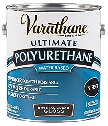 Rust-Oleum VARATHANE Water-Based Polyurethane for Interior Furniture & Wood Polish, 3.78 Liters, GLOSS Finish
