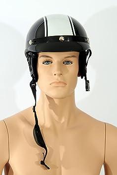 Casques de moto Demi casque TC-55 Noir / Blanc L ABS, Polycarbon Polystyrène
