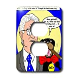 lsp_2786_6 Rich Diesslins Funny General - Editorial Cartoons - George Soros and Triumph the Insult Comic Dog - Light Switch Covers - 2 plug outlet cover