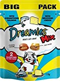 Dreamies Cat Treats Mix with Scrumptious Salmon and Delicious Cheese (110g)