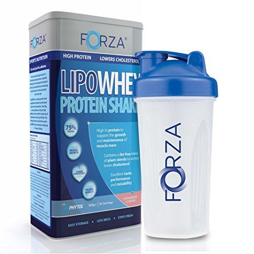 FORZA Whey Protein Pack - LipoWhey (Strawberry) & Whey Protein Shaker (700ml)