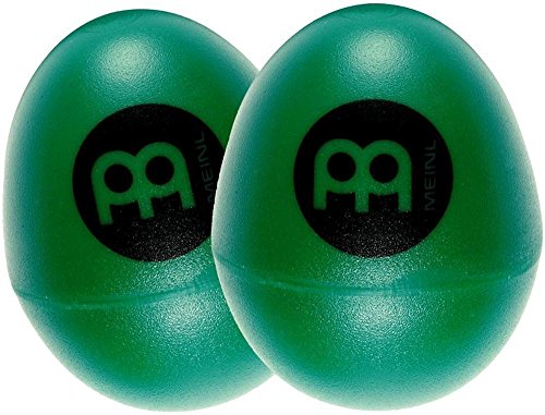 Meinl Percussion ES2-GREEN Set of Two Plastic Egg Shakers, Green - 1