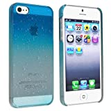 eForCity Clear Sky Blue Waterdrop Raindrop Hard Case Compatible with Apple iPhone 5