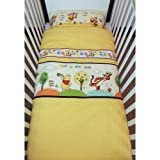 Disney Winnie the Pooh What a fun day! Bedding Set for Cotbed Yellow