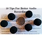 Compete Audio CA515 Round Ball Winsdcreen 6-pack for Lapel Microphones