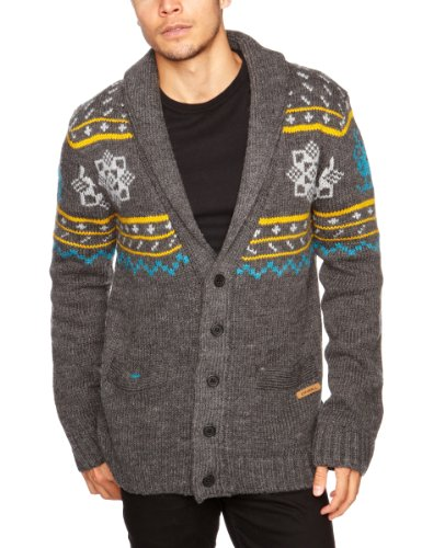 O'Neill Nordic Ice Pullover Men's Jumper Grey All Over Print Small