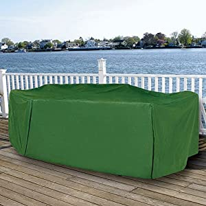 Amazon.com : Durable Rectangular Outdoor Patio Set Vinyl Furniture