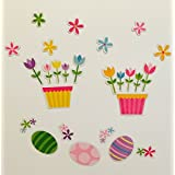 Easter Basket Garden Magnet Set With Fun Bright Colors For Kids To Be Inspired For Hours.