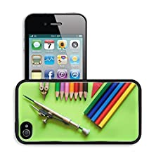 buy Luxlady Premium Apple Iphone 4 Iphone 4S Aluminum Backplate Bumper Snap Case Image Id 31249050 Colorful Pencil Crayons On A Green Background Back To School