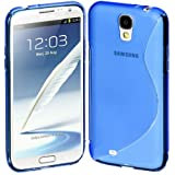 Estuche Cimo S, Flexible para Samsung Galaxy S4, color azul.