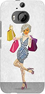 Kasemantra Shopaholic Girl Case For HTC One M9+