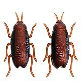 WSS Cumpleaños de novedad de vibración rastreros cucarachas todo juguete divertidos insectos de simulación mecánica insectos Nano divertido cepillo Nano