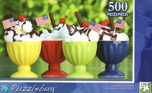 Sundae Afternoon - Puzzlebug - 500 Pc Jigsaw Puzzle - NEW