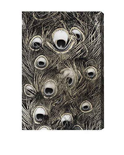 Oliver Gal Peacock Gold Canvas Art