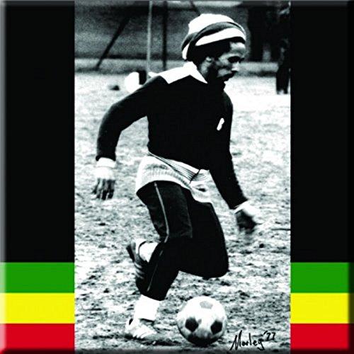 Bob Marley Soccer Official 76 mm x 76 mm-Magnete per frigorifero