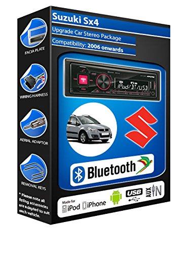 Suzuki Sx4 autoradio Alpine UTE 72BT mains-libres Bluetooth pour autoradio stéréo