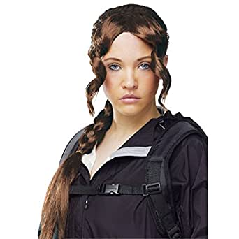 District Girl Adult Wig Katniss Everdeen Braid Hunger Games Movie Mockingjay