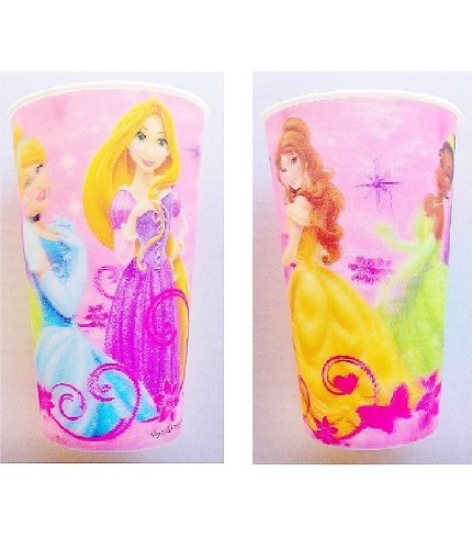 Disney Princess Lenticular Party Tumbler - 16oz 3-D Cup (2ct)