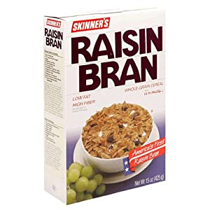 Skinner's Raisin Bran, Whole Grain Cereal, 13-Ounce Boxes (Pack of 6)