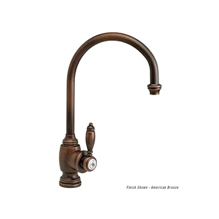 Waterstone 4300-CHB Chocolate Bronze Hampton Kitchen Faucet - C Spout - Lever Handle
