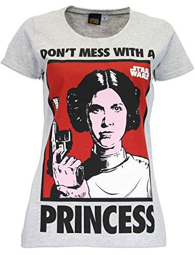 Star Wars - Maglietta a maniche corta da donna - Principessa Leia - Small