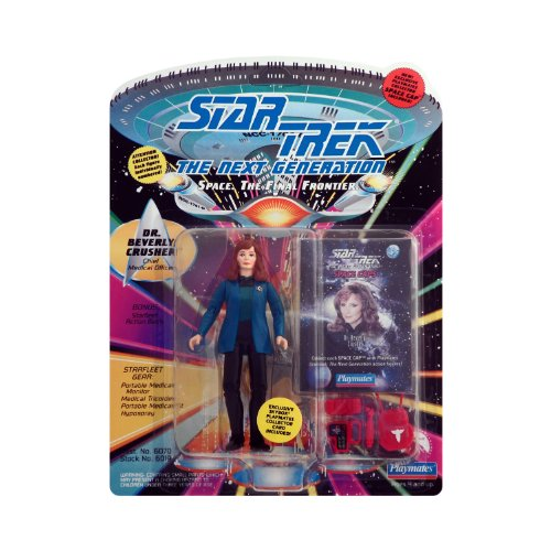 Star Trek The Next Generation Dr. Beverly Crusher With Special Space Caps Included With Starfleet Gear From Playmates 1993