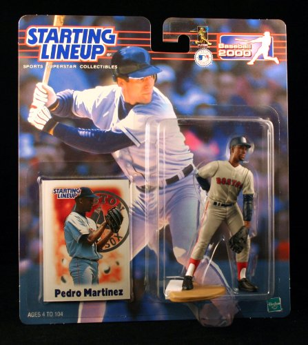 PEDRO MARTINEZ / BOSTON RED SOX 2000 MLB Starting Lineup Action Figure & Exclusive Collector Trading Card