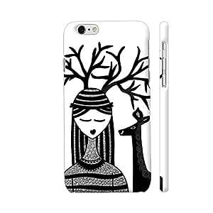 Colorpur The Deer Girl In Black Artwork On Apple iPhone 6 / 6s Cover (Designer Mobile Back Case) | Artist: Woodle Doodle