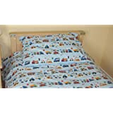 Cars/Vehicle/Police/fire Cot Bed/Junior Duvet Cover & Pillowcase - 120x150cm - 100% Cotton - UK Made