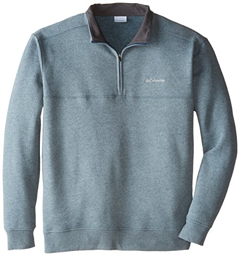 Columbia Men's Big Hart Mountain II Half Zip, Ever Blue Heather, 4X