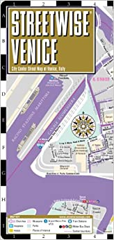 Streetwise Venice Map - Laminated City Center Street Map