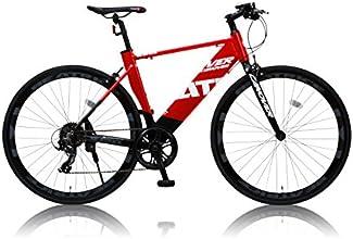 CANOVER(カノーバー) 700×25C アルミフレーム クロスバイク シマノ8段変速ラピッドファイヤー 重量11.9Kg 極太ダウンチューブ LEDライト標準装備 CAC-026 BEATRICE(ベアトリーチェ) レッド/ブラック