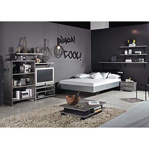 Schlafzimmer Jugendzimmer Set »LOFTE221« Industrial-Print-Optik, graphit günstig kaufen