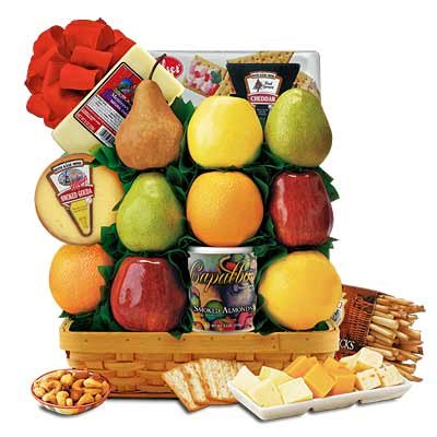 Fruit & Cheese Deluxe Gift Basket
