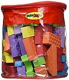 Edushape Textured Brightly Colored Foam Building Blocks, Set of 80, Brights
